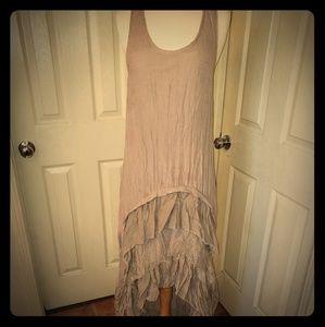 Long high low Vintage Dress